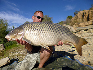Carp and Zander fishing Ebro Caspe Spain